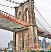 Brooklyn Bridge Close Up Art Print