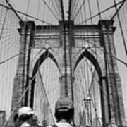 Brooklyn Bridge In Black And White Art Print