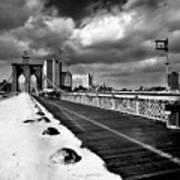 Brooklyn Bridge Art Print by Luca Baldassari