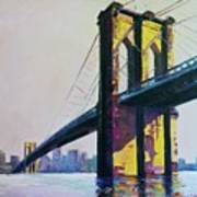 Brooklyn Bridge, N Y  Art Print