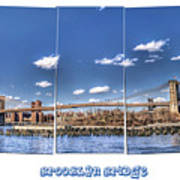 Brooklyn Bridge Pano  Art Print
