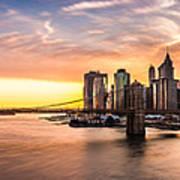 Brooklyn Bridge Panorama Art Print
