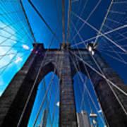 Brooklyn Bridge Vertical Print by Thomas Splietker