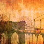 Brooklyn Bridge Vintage Art Print