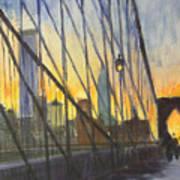 Brooklyn Bridge Wires Art Print
