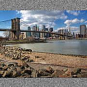 Brooklyn Bridge...triptych Art Print by Arkadiy Bogatyryov