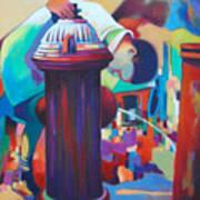 Brooklyn  Fountain Art Print