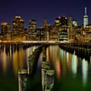 Brooklyn Pier At Night Art Print