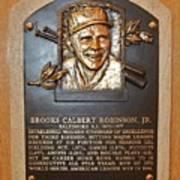 Brooks Robinson Hall Of Fame Plaque Art Print