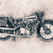 Brough Superior Ss100 - 1924 - Motorcycle Poster - Automotive Art Art Print