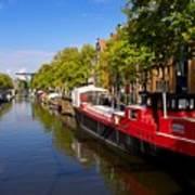 Brouwersgracht Canal In Amsterdam. Netherlands. Europe Art Print