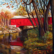 Brown County Bridge Art Print by Dorothy Riley