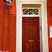 Brown Door Art Print