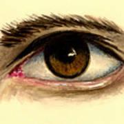 Brown Eye Art Print