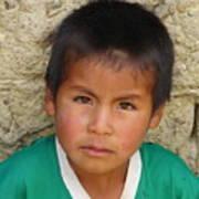 Brown Eyed Bolivian Boy Art Print