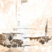 Brown Gray Abstract 12m4 Art Print