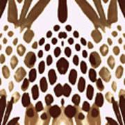 Brown Pineapple Art Print