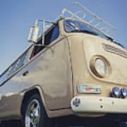 Brown Vw T2 Camper Van Art Print