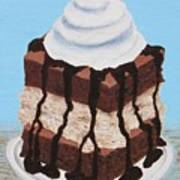 Brownie Ice Cream Sandwich Art Print