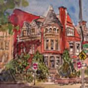 Brownstone On Corcoran Street Art Print