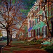 Brownstones At Lafayette Park Art Print