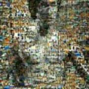 Bruce Lee Mosaic Art Print