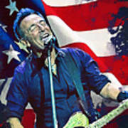 Bruce Springsteen Metal Print By Afterdarkness