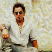 Bruce Springsteen Art Print by Elizabeth Coats