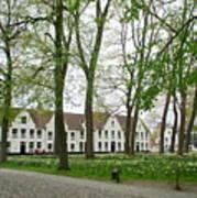 Bruges Begijnhof 1 Art Print