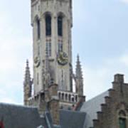 Bruges Belfry 6 Art Print
