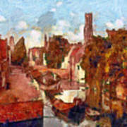 Bruges Canal View Art Print