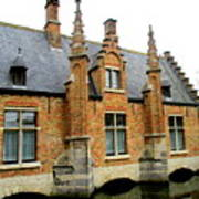 Bruges Sashuis 6 Art Print