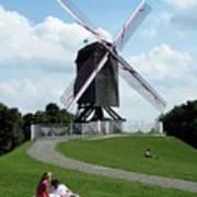 Bruges Windmill Art Print