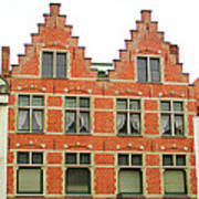 Bruges Window 9 Art Print