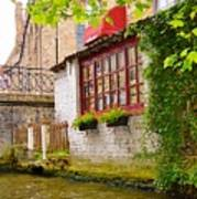 Bruge Canal Art Print