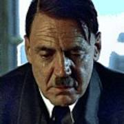 Bruno Ganz As Adolf Hitler Publicity Photo Number Two   Downfall 2004 Color Added 2016 Art Print