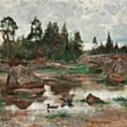 Bruno Liljefors,   Landscape From Uppland Art Print