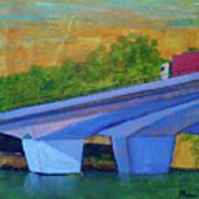Brunswick River Bridge Art Print