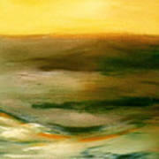 Brushed 4 - Vertical Sunset Art Print