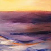 Brushed 6 - Vertical Sunset Art Print