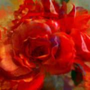 Brushed Flowers Art Print