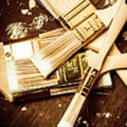 Brushes Of Interior Decoration Art Print