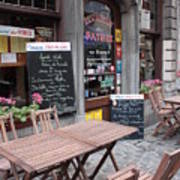 Brussels - Restaurant Chez Patrick Art Print