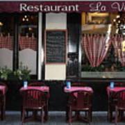 Brussels - Restaurant La Villette Art Print by Carol Groenen