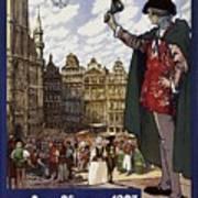 Brussels Commercial Fair Poster - Retro Poster - Vintage Travel Advertising Poster Art Print