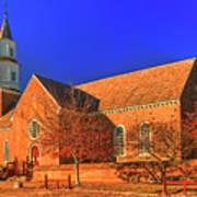Bruton Parish Church In The Warm Autumn Afternoon Sunlight 6477tmt Art Print