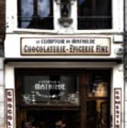 Bruxelles Chocolaterie Art Print