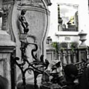Bruxelles In The Street The Boy Print by Yury Bashkin
