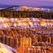 Bryce Canyon Winter Sunrise Art Print