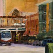 Bryn Mawr Edgewater El Stop Art Print